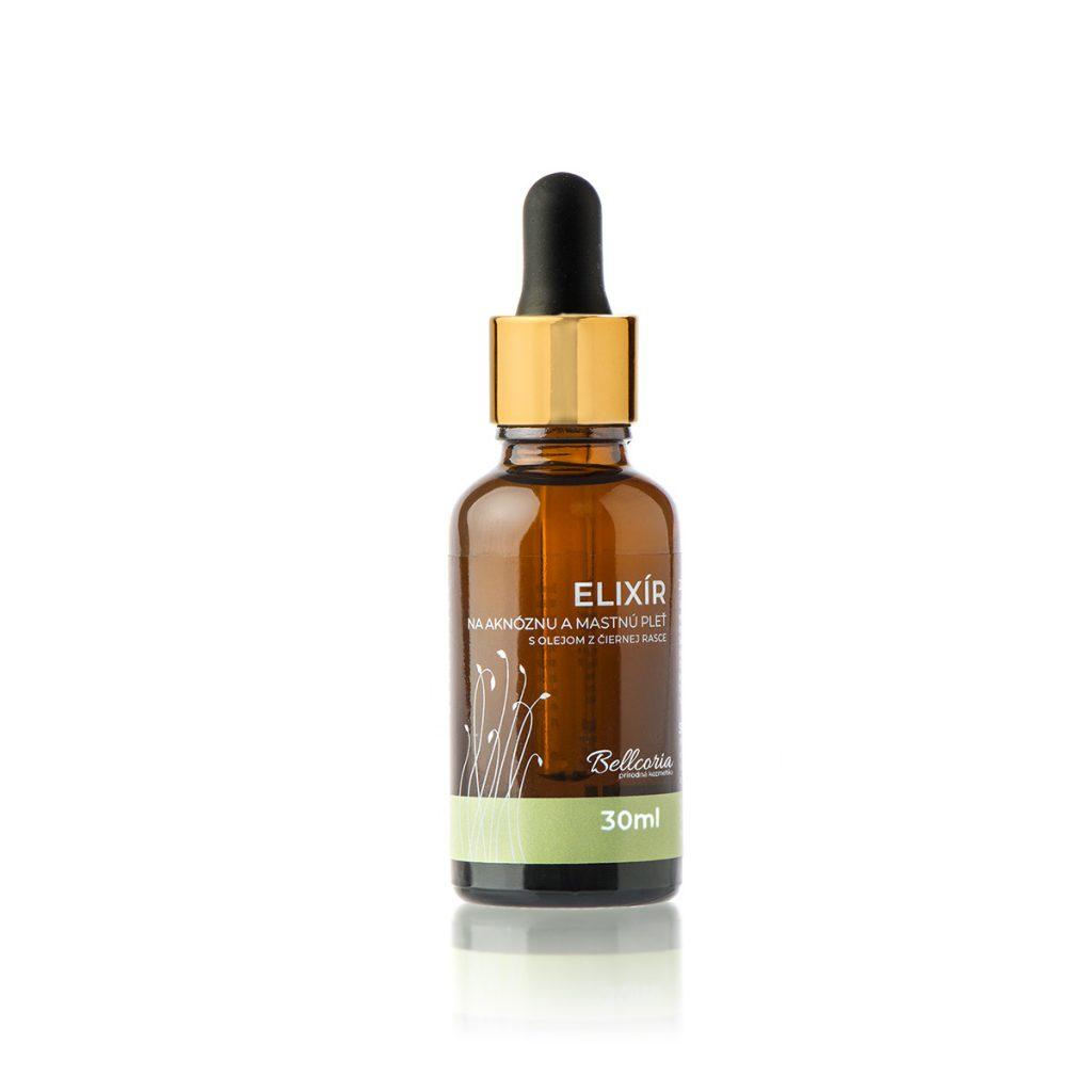 elixir na aknoznu a mastnu pleť prirodna kozmetika bellcoria